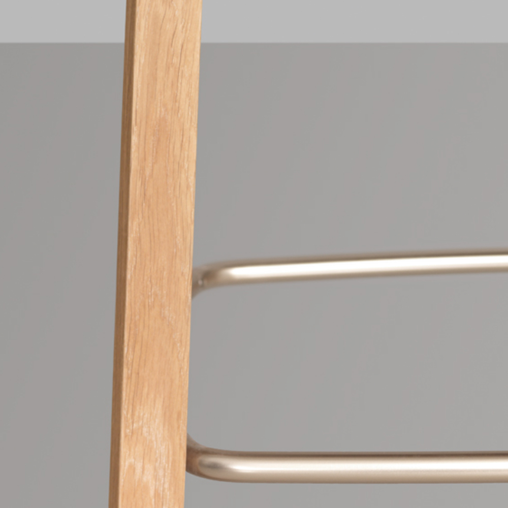 nonoto bar stool laufer keichel zeitraum suite ny oak foot detail