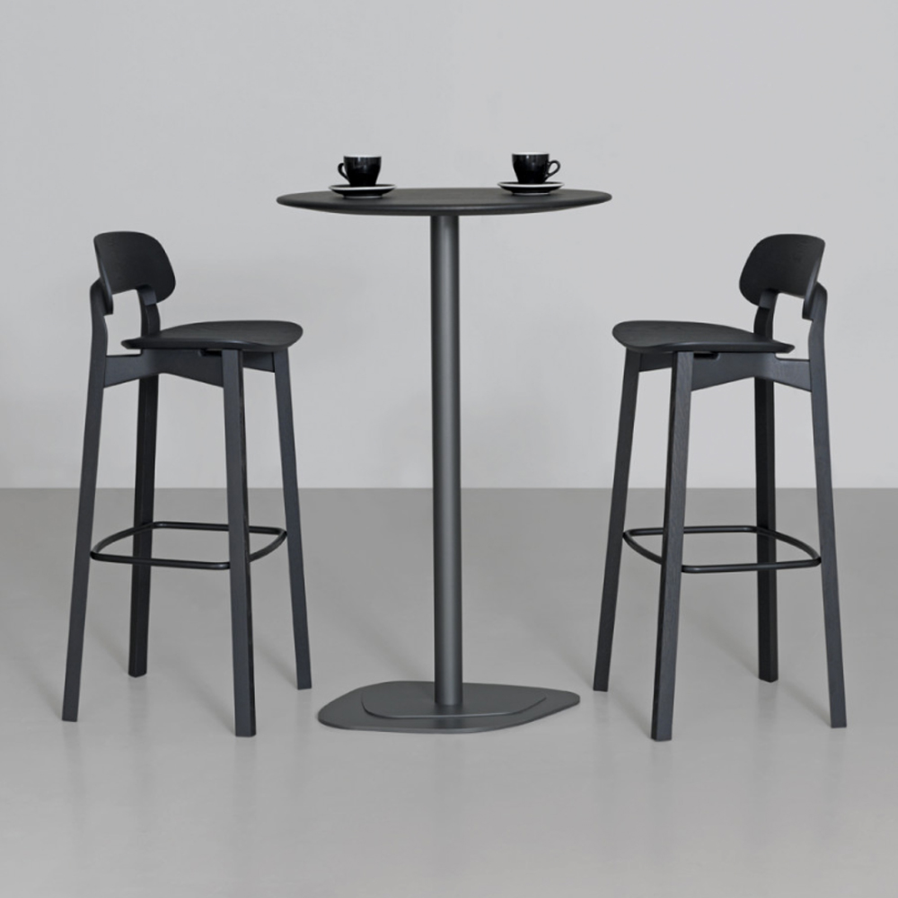 nonoto bar stool laufer keichel zeitraum suite ny black stained oak