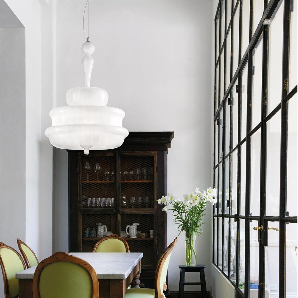Novecento Romani Saccani Architetti Associati Vistosi modern italian suspension lamp