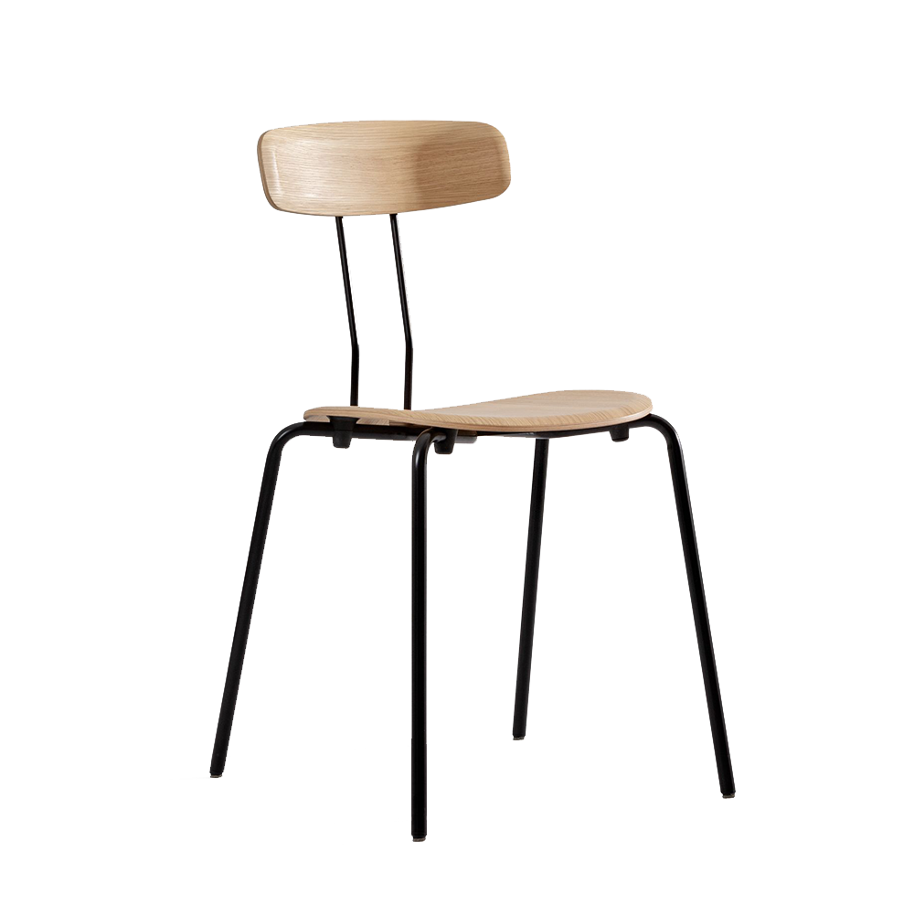 okito stackable chair dining office contemporary modern designer plywood chair
