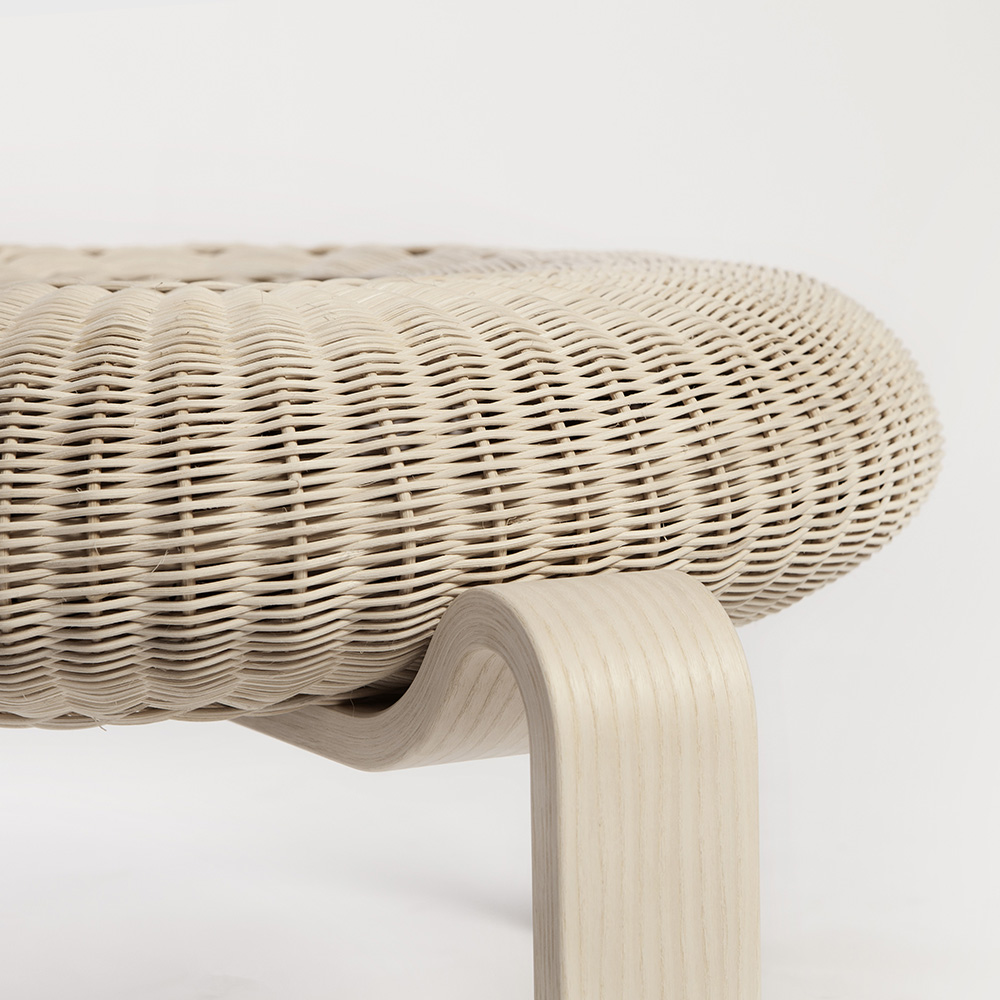 stool Ole Schjøll a petersen modern designer contemporary danish wicker stool