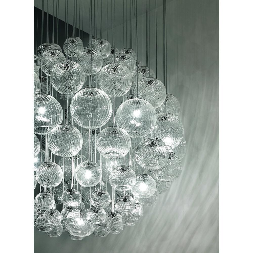 oto pio tito toso vistosi contemporary modern round globe orb glass pendant light italian designer lighting