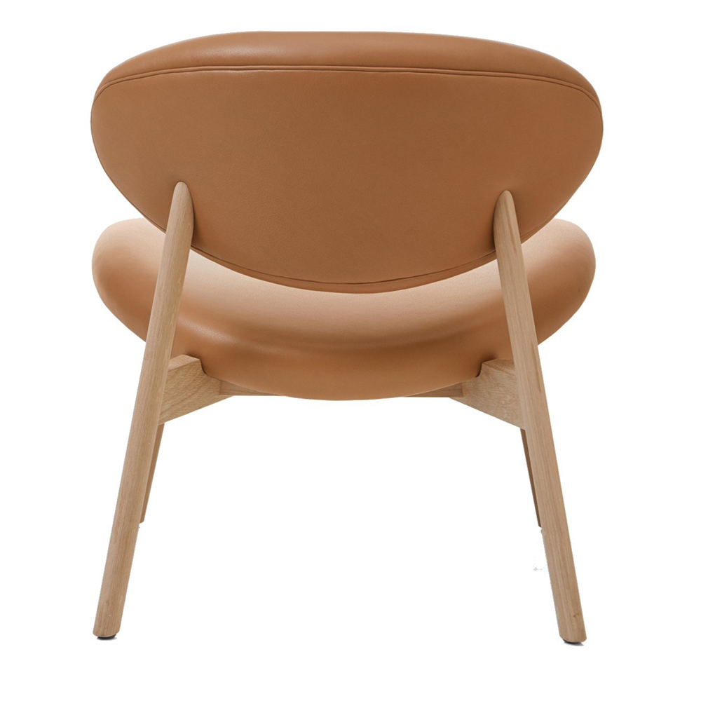 ovoid easy chair Craig Bassam bassamfellows modern contemporary mid-century style leather wood easy chair