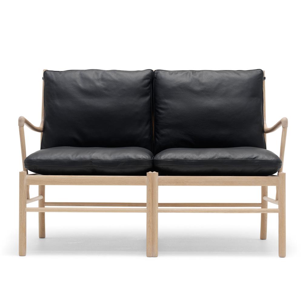 ow149-2 colonial sofa ole wanscher carl hansen danish design lounge armchair black leather oak white oil shop suite ny