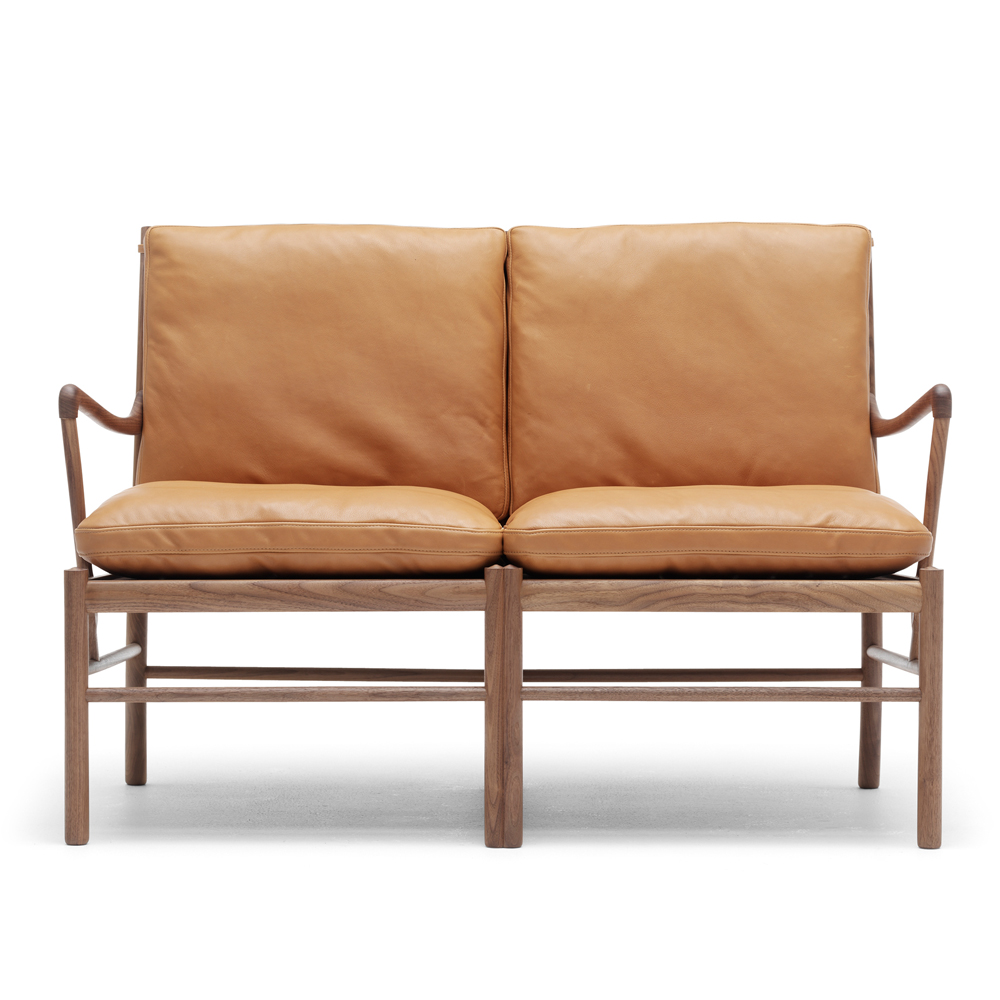 ow149-2 colonial sofa ole wanscher carl hansen danish design lounge armchair brown leather walnut oil shop suite ny