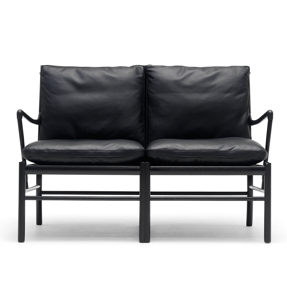 ow149-2 colonial sofa ole wanscher carl hansen danish design lounge armchair black leather shop suite ny