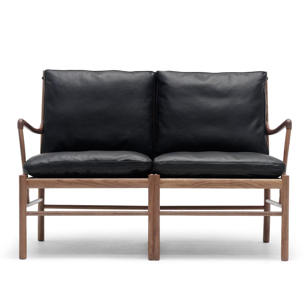 ow149-2 colonial sofa ole wanscher carl hansen danish design lounge armchair black walnut oil shop suite ny