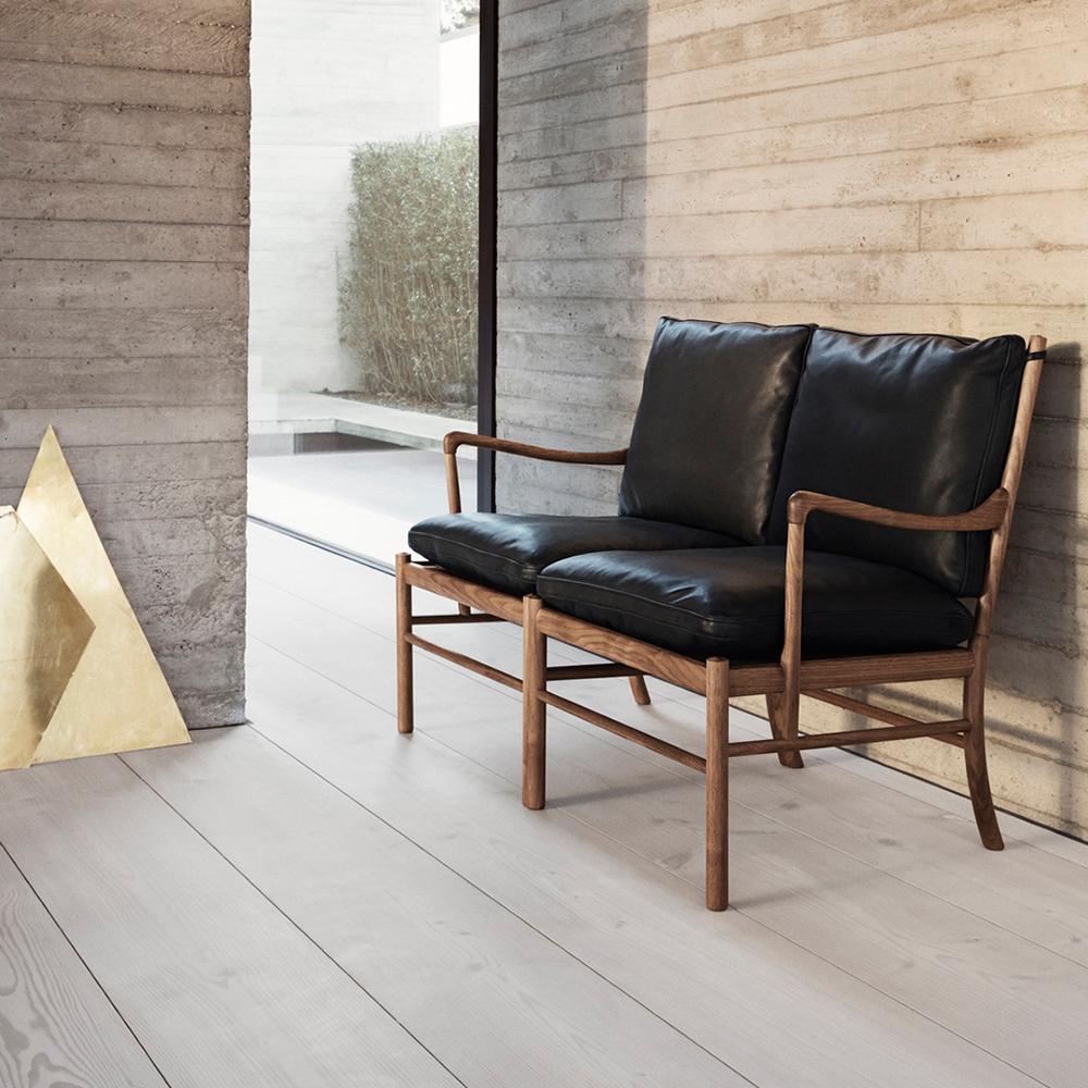 ow149-2 colonial sofa ole wanscher carl hansen danish design lounge armchair black leather walnut shop suite ny