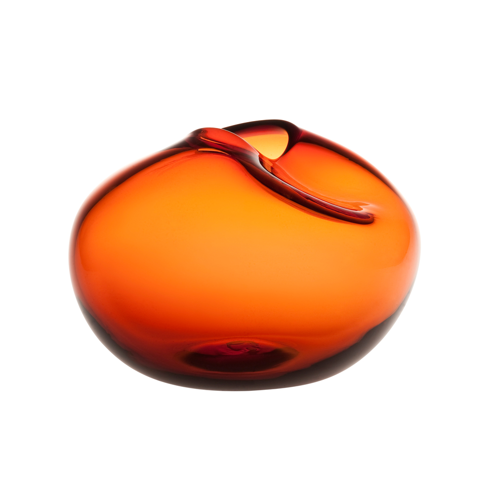 Pebbles Vases Kate Hume When Objects work colorful glass orange cognac