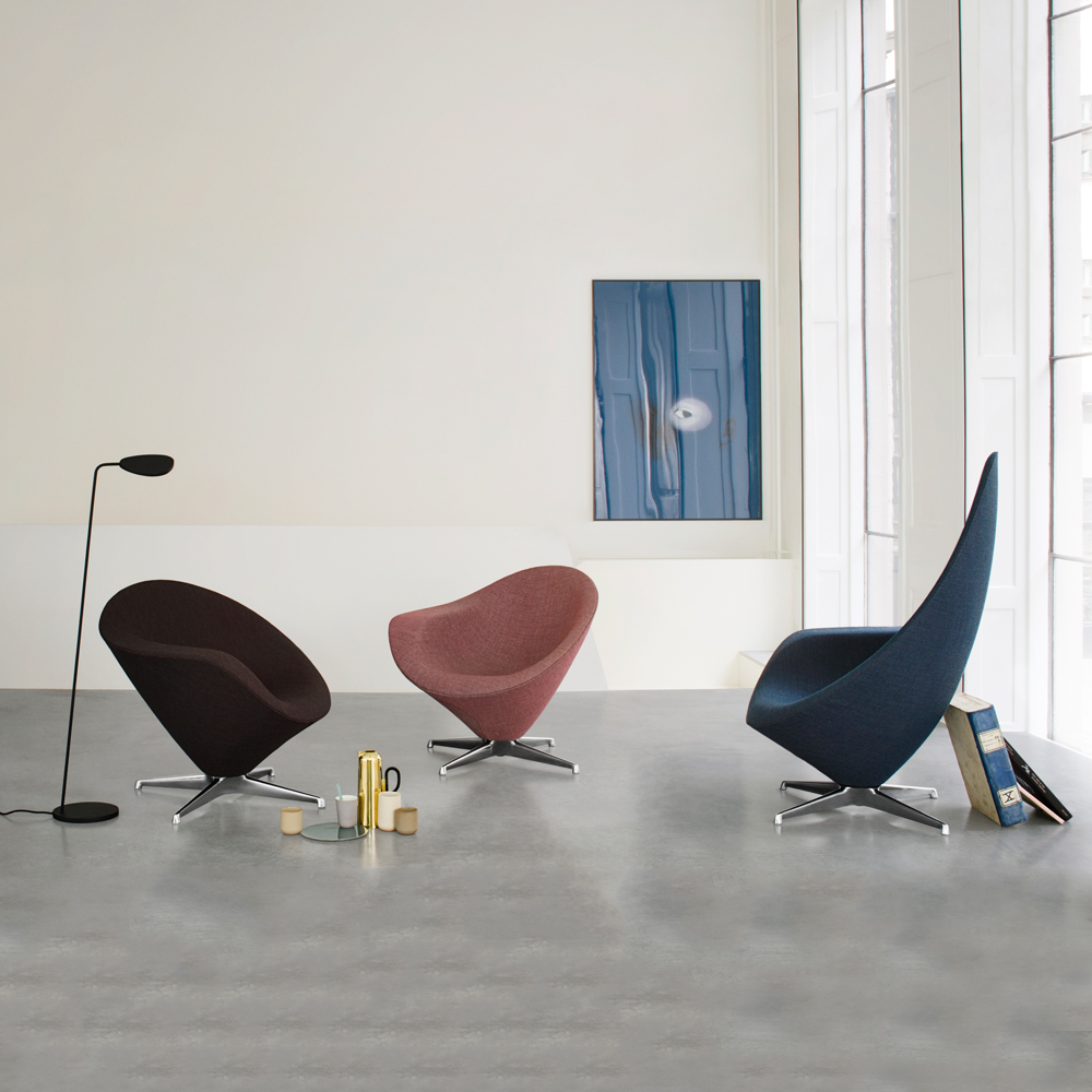 petit plateau low back lounge chair erik magnussen engelbrechts fabric leather upholstery aluminum danish design furniture denmark shop suite ny