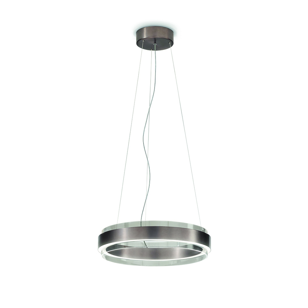 phoenix andrea lazzari vistosi modern contemporary designer suspension metal ring light lamp italian designer lighting