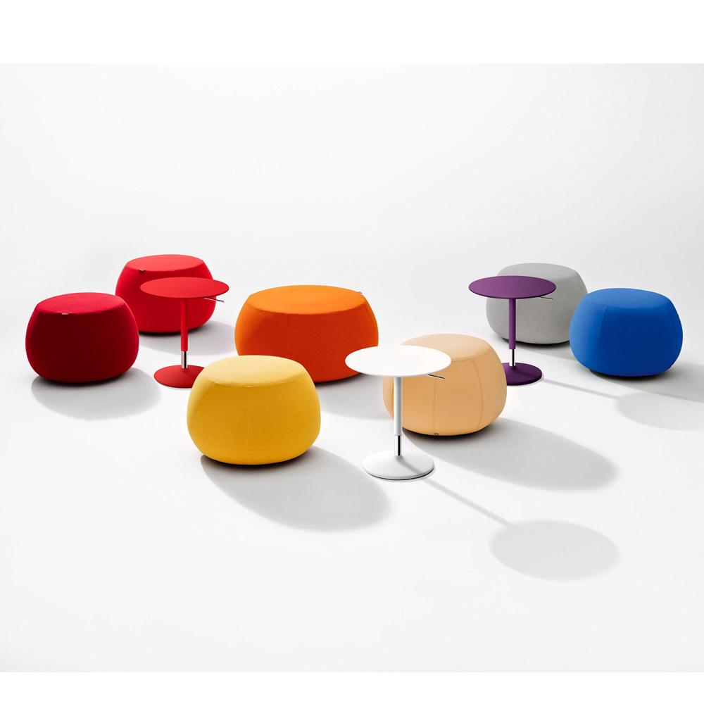 Pix pouf Ichiro Iwasaki Arper upholstered round ottoman stool