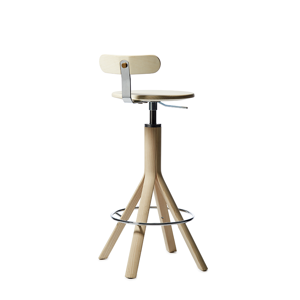 pop stool patrik bengtsson pierre sindre garsnas modern adjustable height wood stool