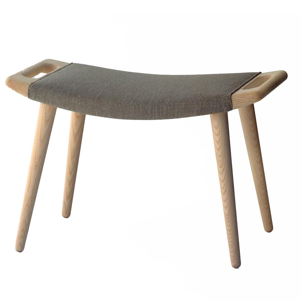 pp120 hans j wegner pp mobler danish designer upholstered wood stool