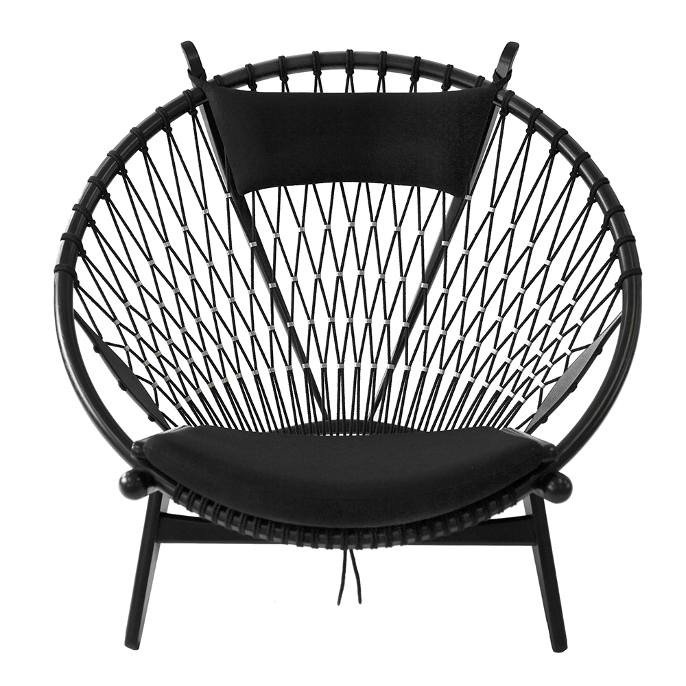 pp130 circular chair hans j wegner pp mobler contemporary danish designer easy chair black
