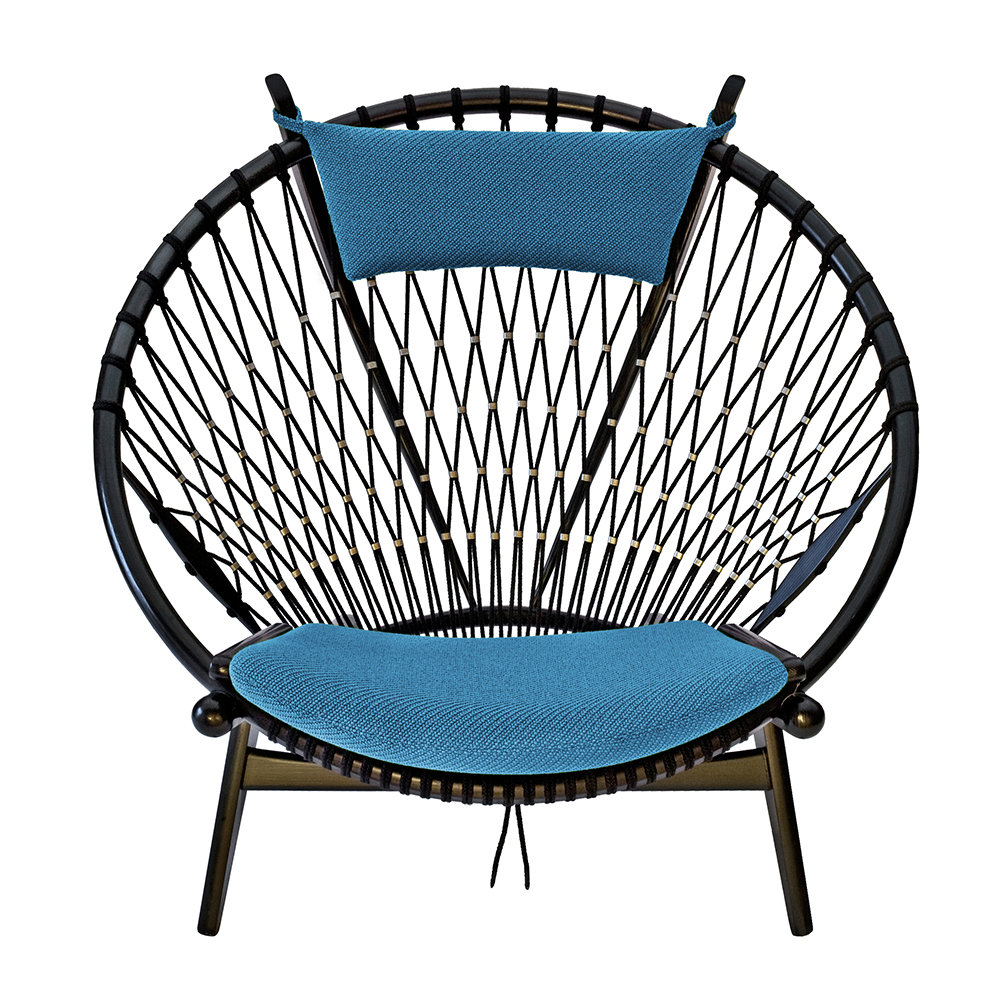 pp130 circular chair hans j wegner pp mobler contemporary danish designer easy chair