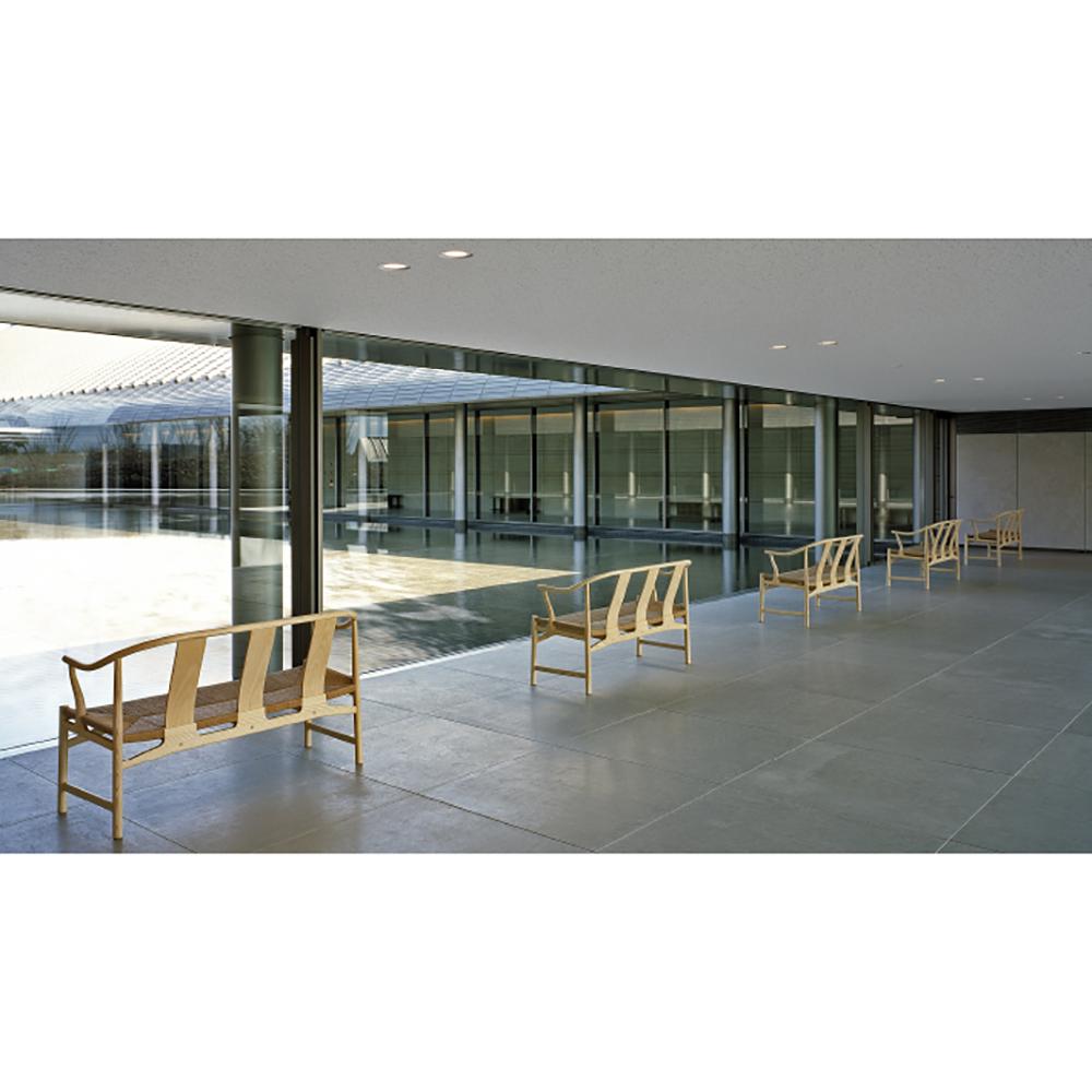pp266 chinese bench hans j wegner pp mobler danish designer wooden bench papercord seat