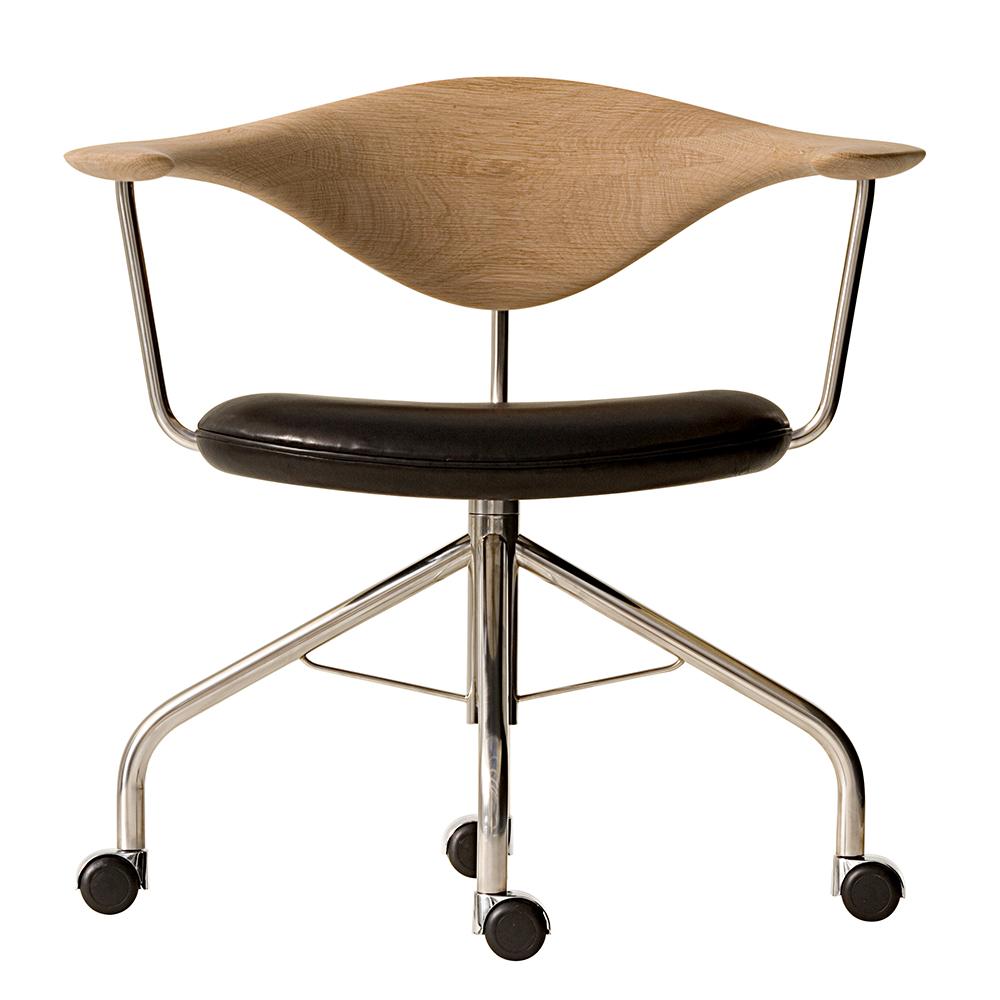 pp502 swivel chair hans j wegner pp mobler danish designer modern wheeled office chair casters