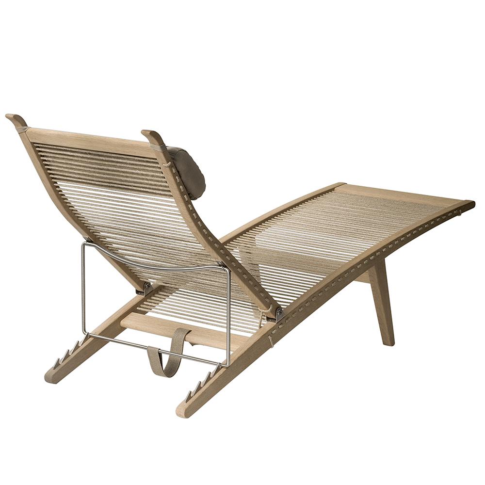 pp524 hans j wegner pp mobler solid wood danish designer lounge deck chair  solid wood outdoor folding