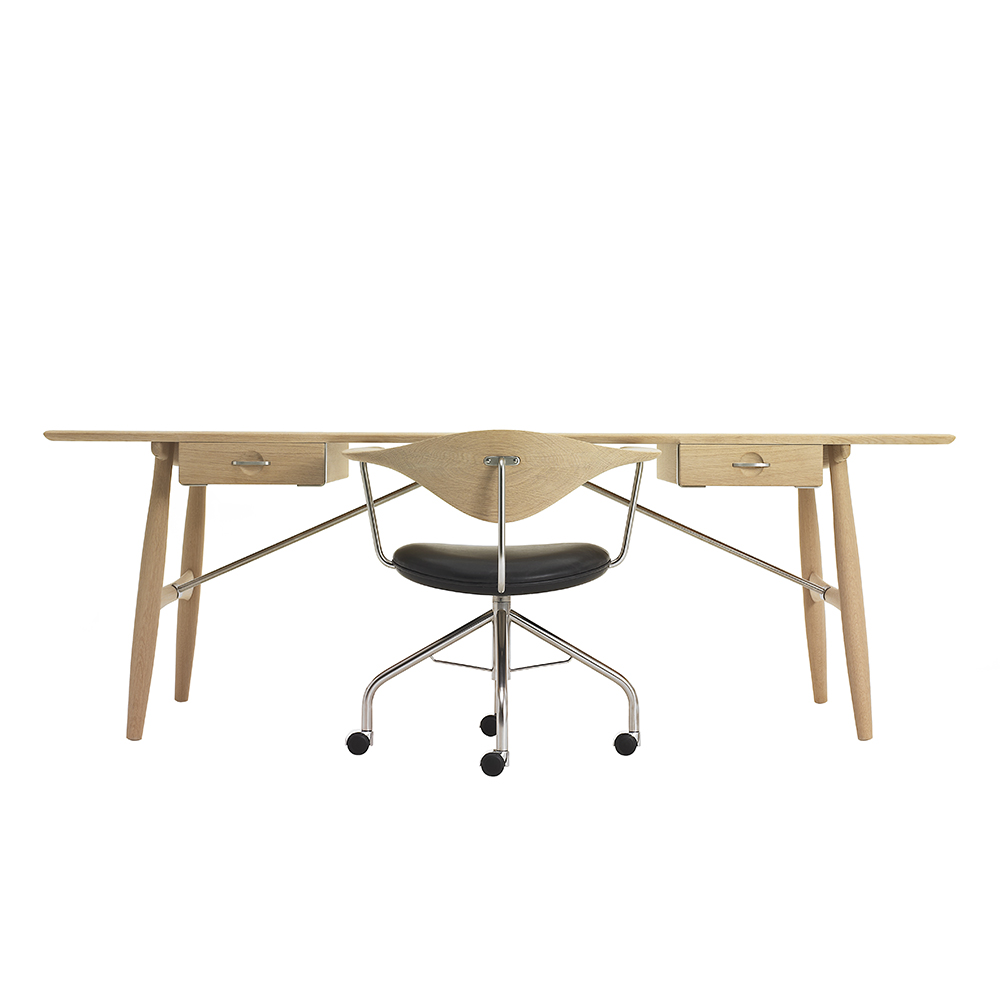 pp571 architect's desk hans j wegner pp moble mid century modern danish designer wooden desk solid wood