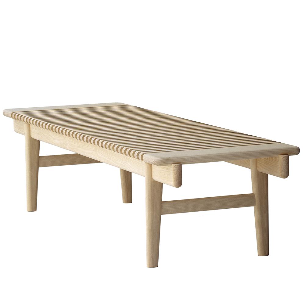 pp589 hans j wegner pp mobler modern danish designer slatted wooden bench