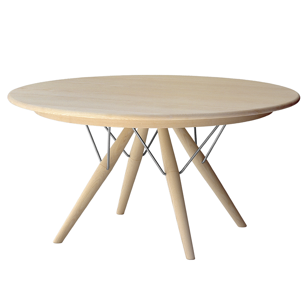 pp75 PP Møbler hans j wegner solid wood danish round dining table with extension leaf