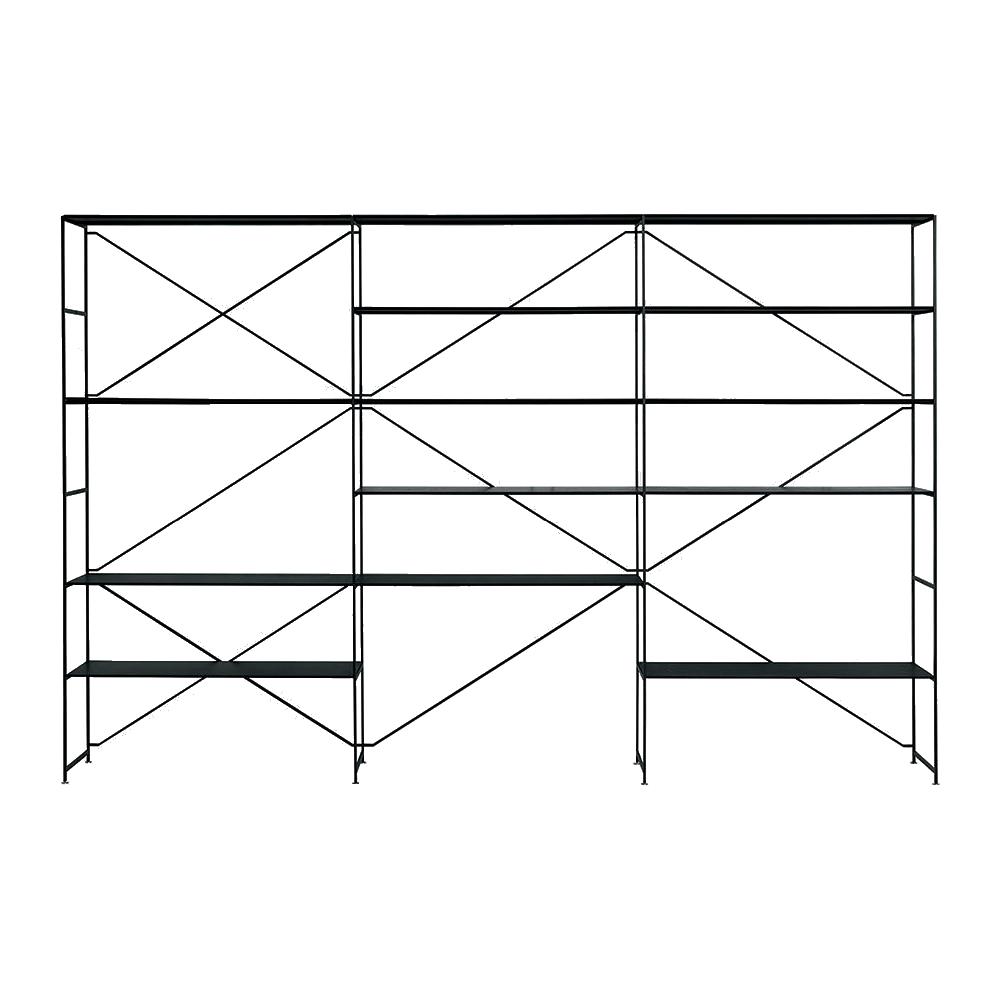 r.i.g. ma/u studios de padova contemporary modern designer metal modular customizable shelving system shelves unit storage slim minimalist