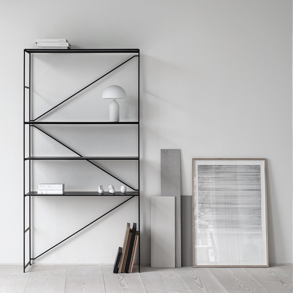 r.i.g. ma/u studios de padova contemporary modern designer metal modular customizable shelving system shelves unit storage slim minimalist