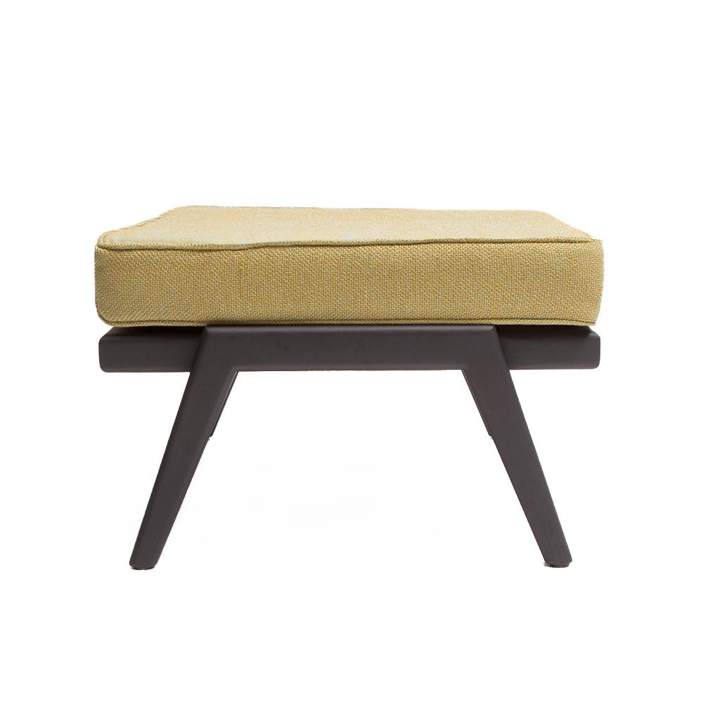 rail back ottoman mel smilow furniture upholstered wooden footrest