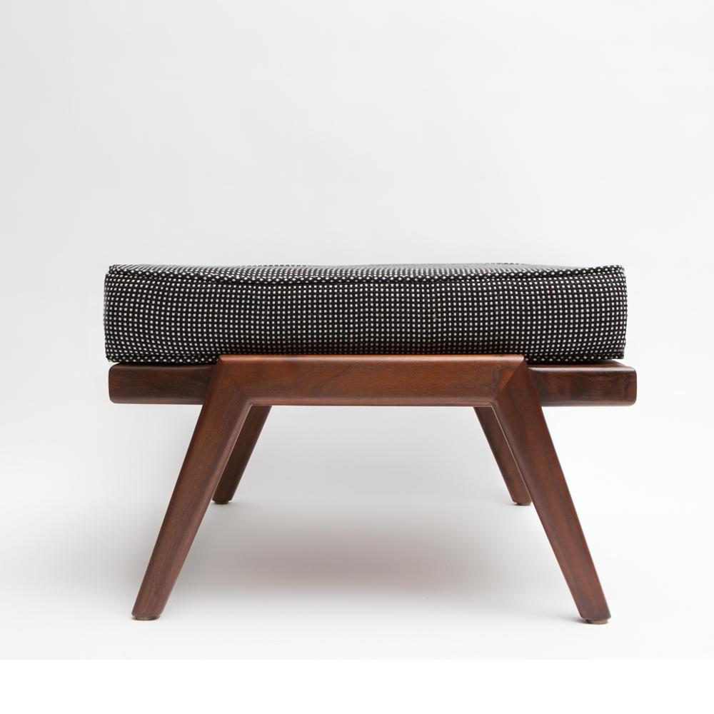 Mel Smilow Rail Back ottoman midcentury modern wooden furniture