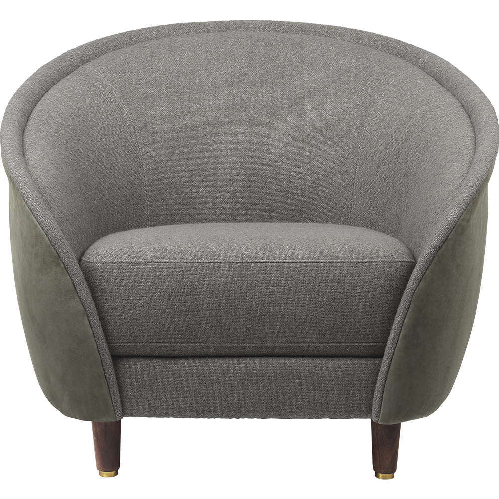 revers lounge chair gubi modern contemporary danish designer round fully upholstered lounge chair