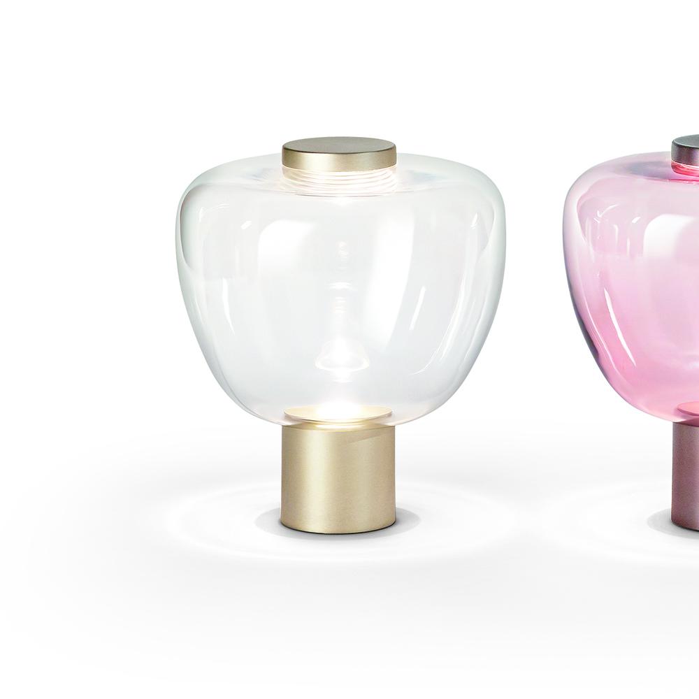 riflesso table lamp chiaramonte marin vistosi modern contemporary italian designer colored glass table lamp light lighting