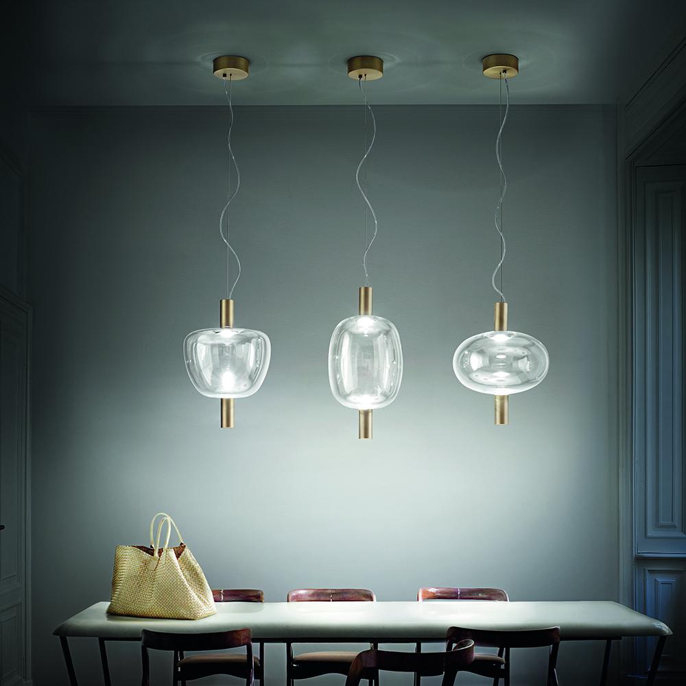 riflesso suspension lamp chiaramonte marin vistosi modern contemporary italian designer colored glass pendant lamp light lighting