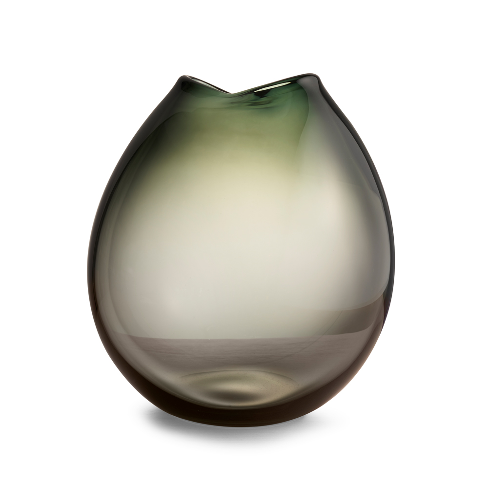 kate hume rock vase when objects work modern contemporary designer colored colorful solid mouth-blown glass vase