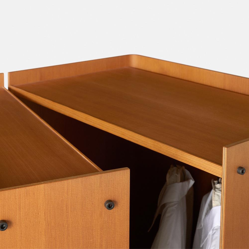 roller cabinet knud holscher a petersen modern contemporary danish designer rolling mobile wheels storage shelving system unit