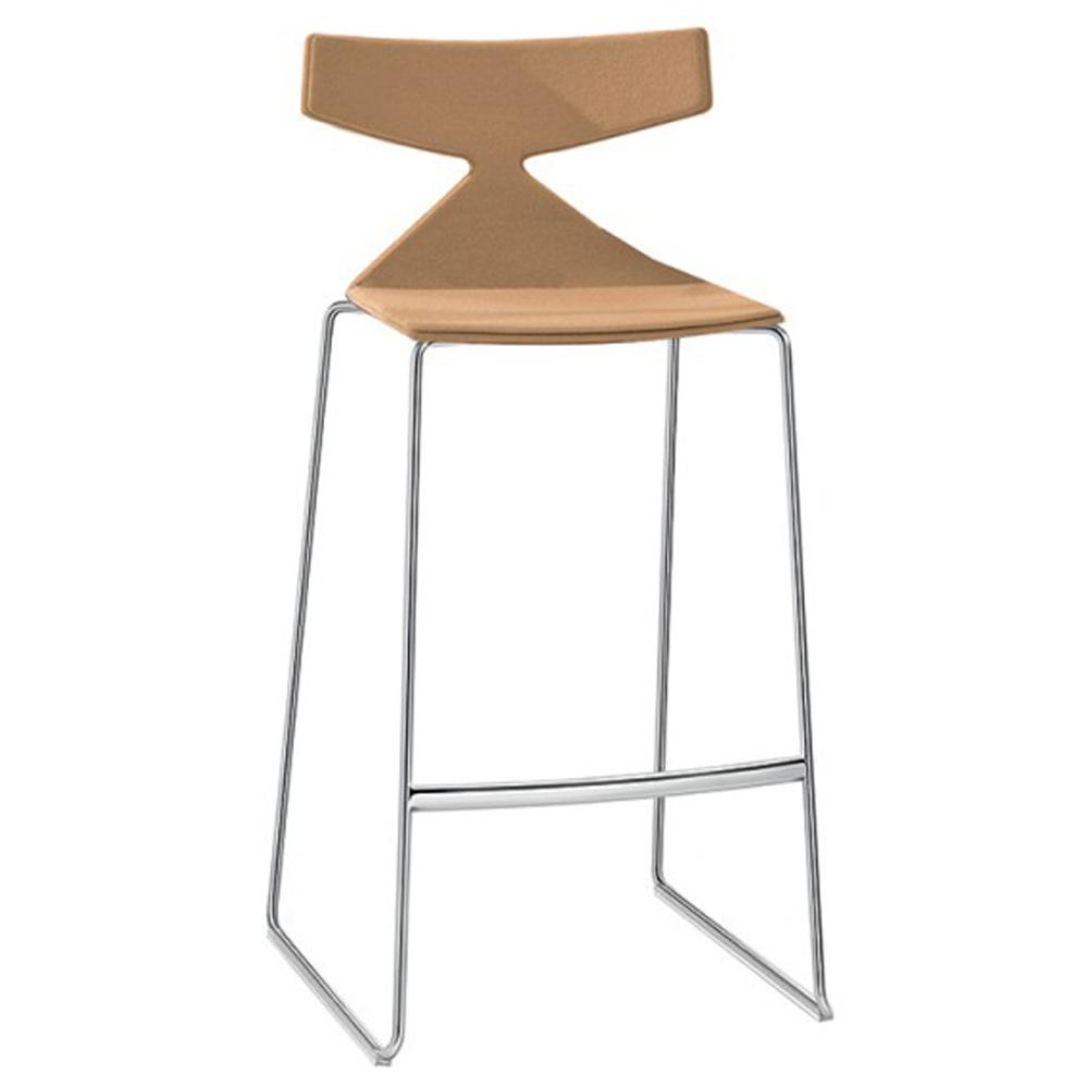 saya bar stool lievore altherr molina arper contemporary designer modern plywood upholstered barstool bar stool