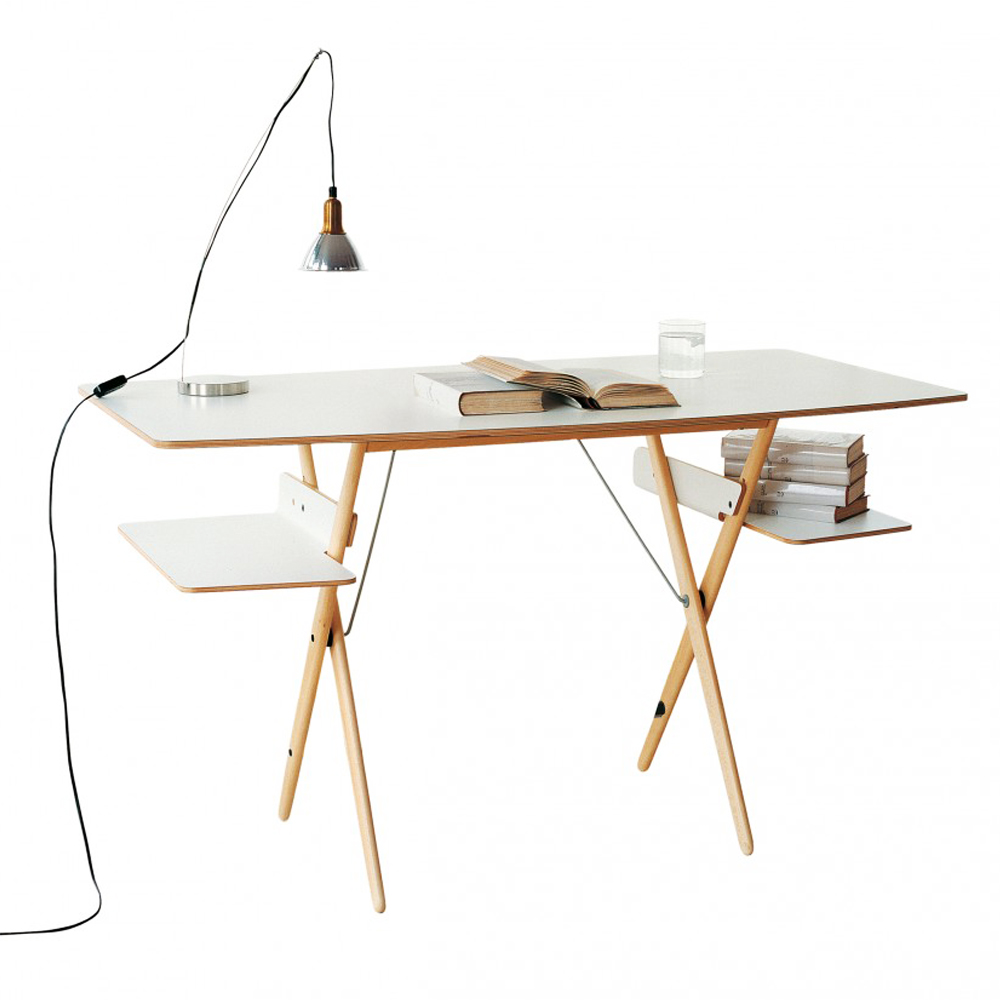 Scrittarello desk achille castiglioni de padova birch white laminate italy design furniture shop suite ny