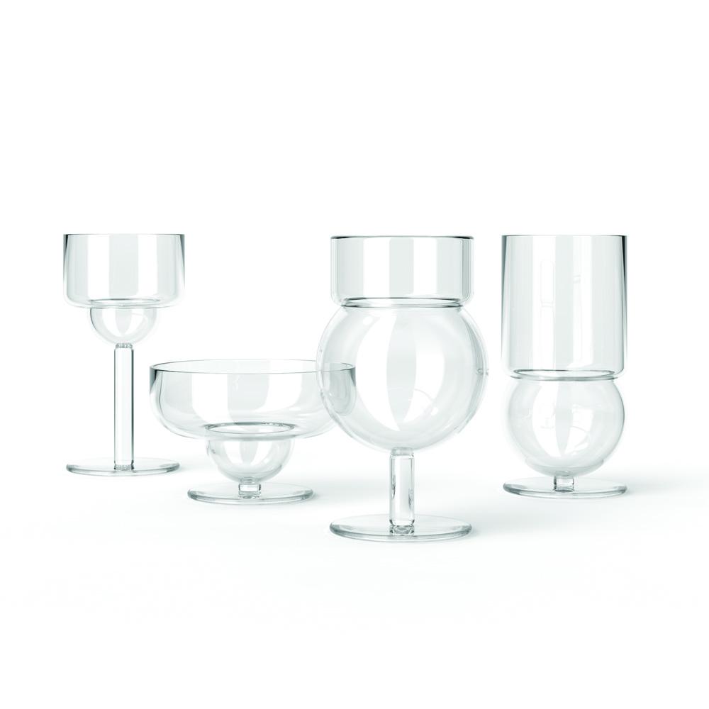 sferico glass collection joe colombo karakter modern designer glassware set