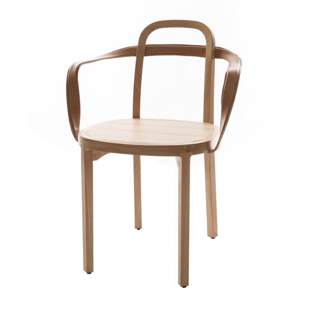 siro armchair tan conganc leather woodnotes suite ny