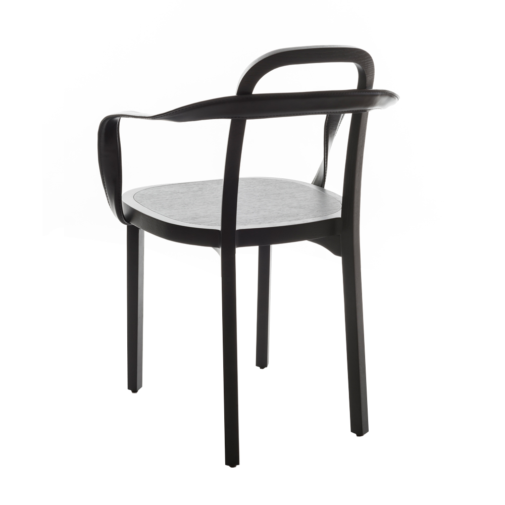 siro back armchair black leather woodnotes suite ny