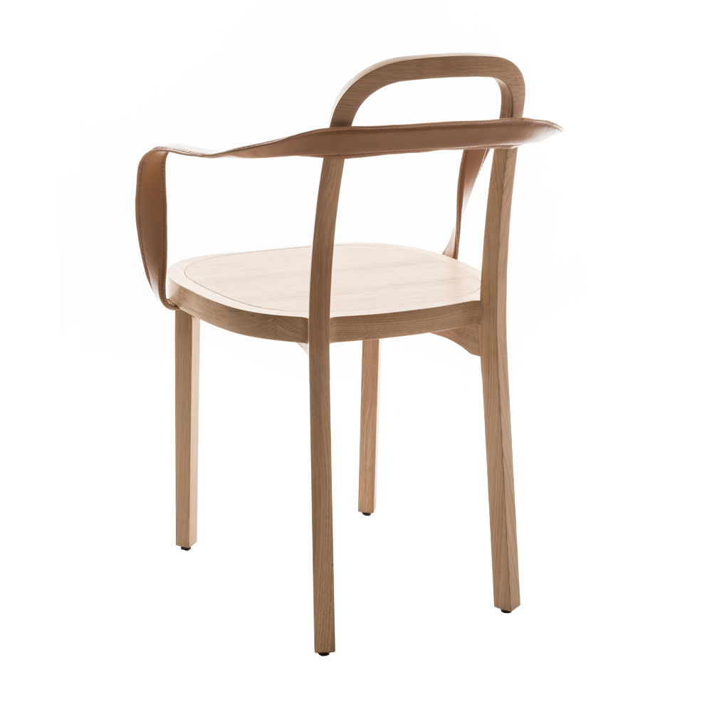siro back armchair tan conganc leather woodnotes suite ny