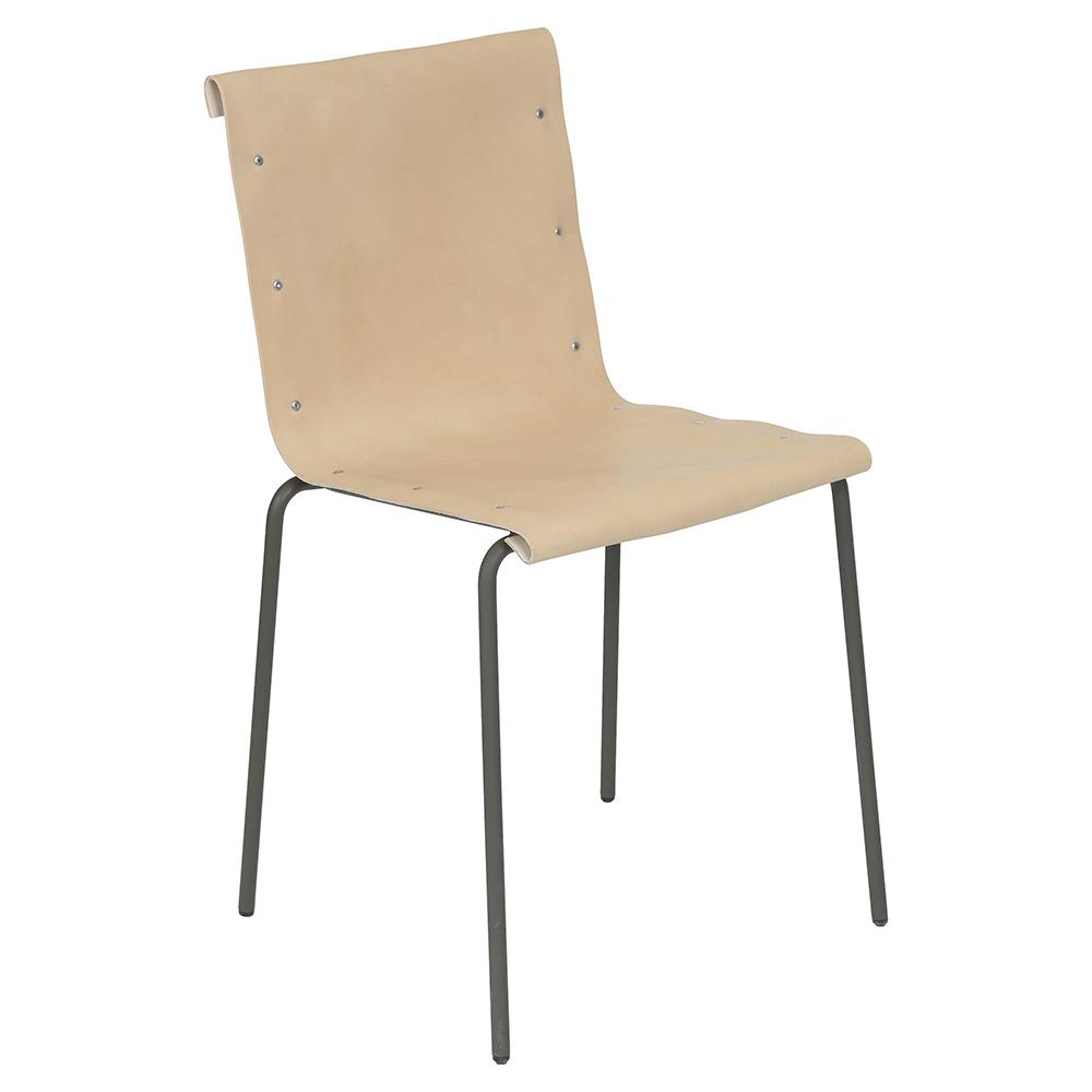 skissernas elding oscarson contemporary modern european scandinavian design leather designer slim minimalist dining stacking chair stackable