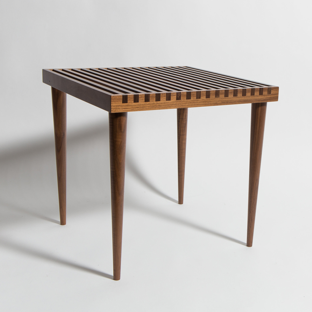 mel smilow slatted stacking table walnut suite ny