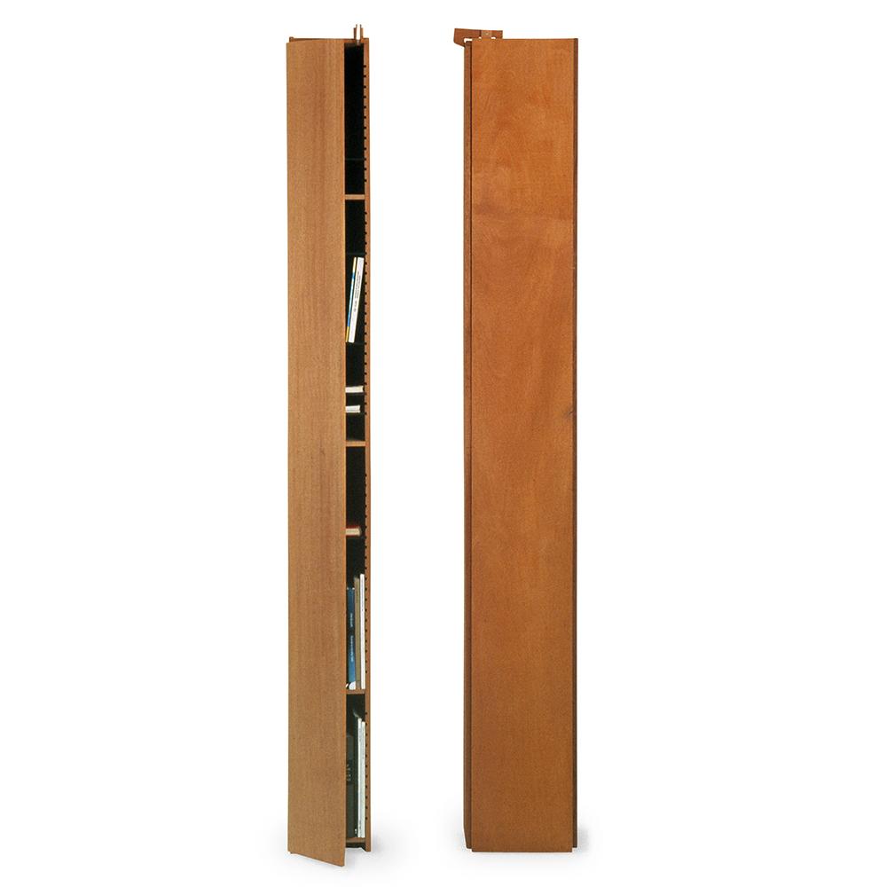 solitar shelves john kandell kallemo contemporary modern designer solid wood wooden slim tall thin minimalist shelving unit shelves shelving system