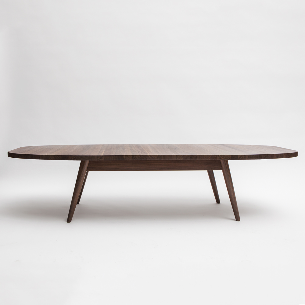 soto oval cocktail table mel smilow furniture solid walnut natural finish wood grain america design midcentury enduring modern classics shop suite ny