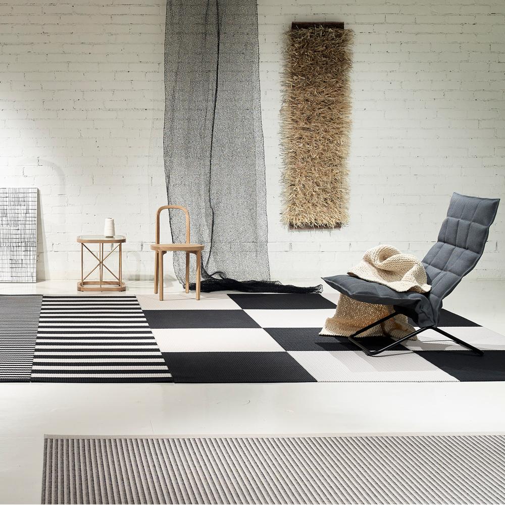Squareplay Paper yarn color block rugs Ritva Puotila Woodnotes SUITE NY
