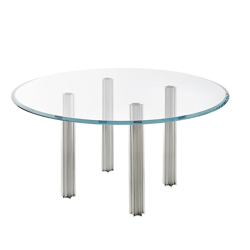 starlight table tokujin yoshioka glas italia modern contemporary italian designer glass coffee table metal legs