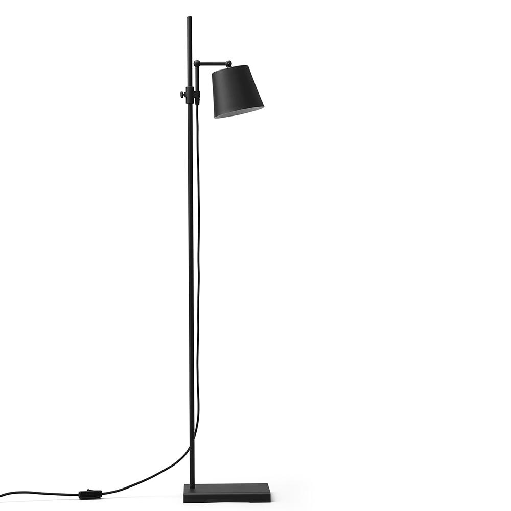 steel lab light black floor lamp anatomy design karakter