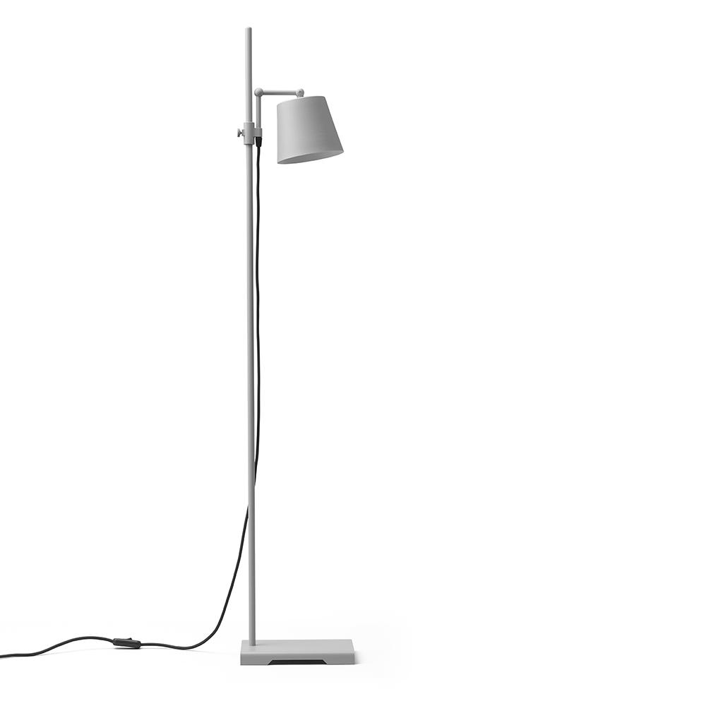 steel lab light grey floor lamp anatomy design karakter