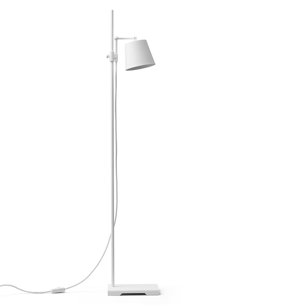 steel lab light white floor lamp anatomy design karakter
